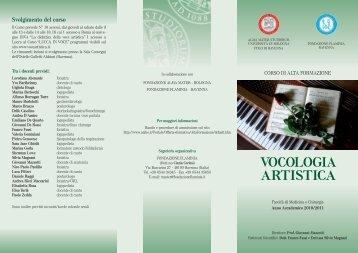 VOCOLOGIA ARTISTICA