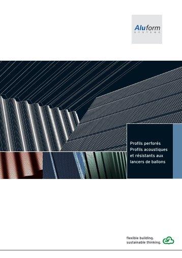 Profils en Aluminium Perforés - Aluform System GmbH & Co. KG
