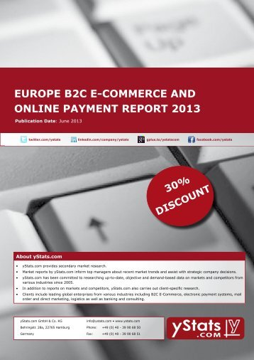 europe b2c e-commerce and online payment report 2013 - yStats.com