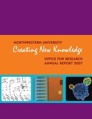 Creating New Knowledge - Office for Research - Northwestern ...