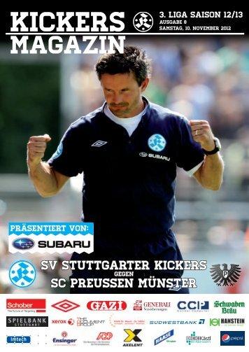 08 Kickers-Magazin Preußen Münster (pdf mit 15 - SV Stuttgarter ...