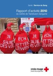 Rapport d'activité 2010 - Croix-Rouge luxembourgeoise