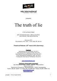 press kit 'the Truth of Lie' (pdf) - Die Wahrheit der Lüge