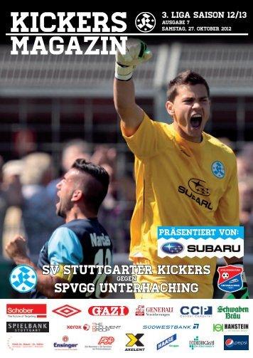07 Kickers-Magazin Unterhaching (pdf mit 15 MB - SV Stuttgarter ...