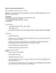 Referat af repræsentantskabsmøde nr. 5 Møde torsdag den ... - Fadl
