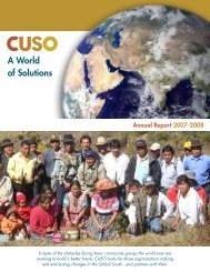 A World of Solutions - Cuso International