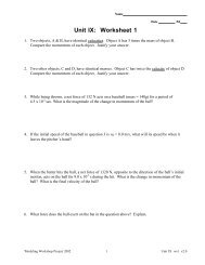 Unit IX: Worksheet 1