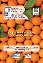 Programme Scientifique Scientific Program