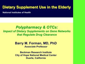 Dietary Supplement Use in the Elderly - Office of Dietary ...