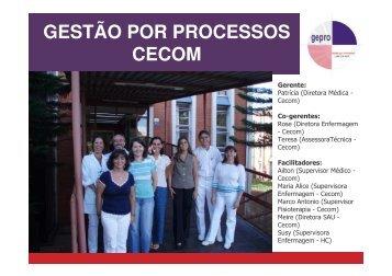 GESTÃO POR PROCESSOS CECOM - Unicamp