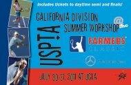 CalIfornIa DIvIsIon Summer Workshop - USPTA divisions