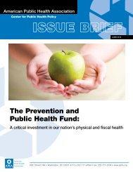 The Prevention and Public Health Fund: - American Public Health ...