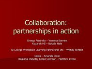 2008 Sydney Conference - Collaboration - Hale - VETnetwork ...