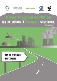 Propuestas ecologistas para una Ley de Economía
