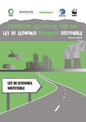"""Propuestas ecologistas para una Ley de Economía """"realmente"""""""