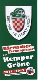 Den Närrischen Terminplaner der Kemper Gröne als PDF