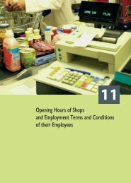 Opening Hours of Shops and Employment Terms and Conditions of ...
