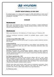 Závěry z monitoringu za rok 2009 - HYUNDAI Motor Manufacturing ...