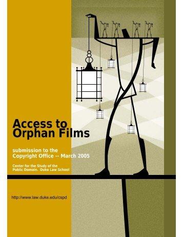 Orphan Film - Duke University School of Law