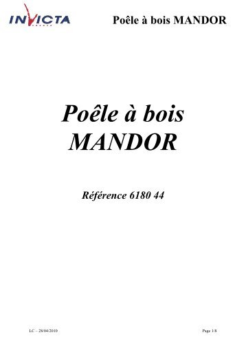 Poêle à bois MANDOR