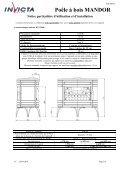 Poêle à bois MANDOR - Page 2