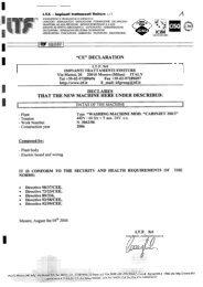 Page 1 I ,1'\ I.T.F. -Impianti traHamenti finiture s.r.l. ENGINEERING E ...