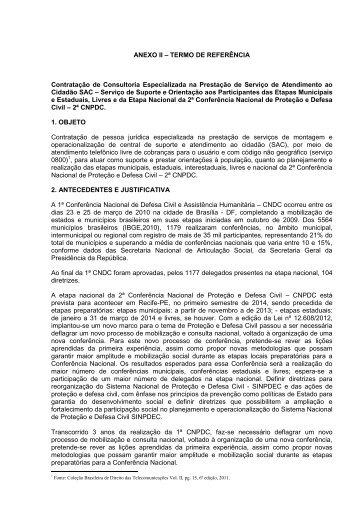 ANEXO II – TERMO DE REFERÊNCIA Contratação de ... - Pnud