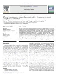 Effect of oxygen concentration on the thermal stability of magnetron ...