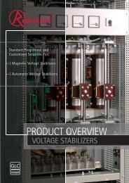 Product Overview Voltage Stabilizer - Ruhstrat GmbH