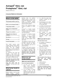 Consumer Medicine Information - Novo Nordisk Australasia
