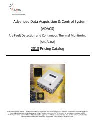 Advanced Data Acquisition & Control System - DRS Technologies