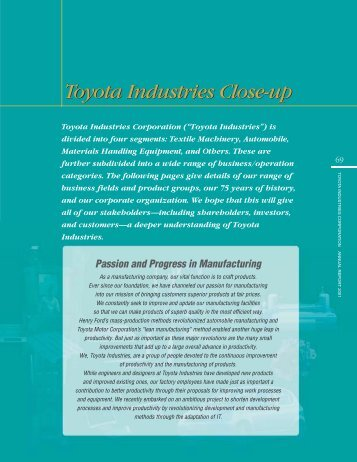 PDF[622KB/13pages] - Toyota Industries Corporation