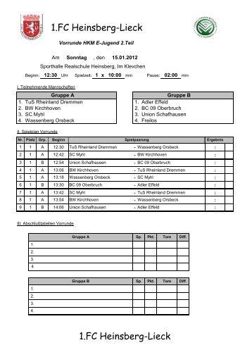 1.FC Heinsberg-Lieck 1.FC Heinsberg-Lieck - Jugendabteilung