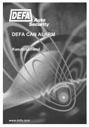 DEFA CAN ALARM - Autokaubad24.ee