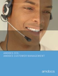 AMDOCS CES: AMDOCS CUSTOMER MANAGEMENT