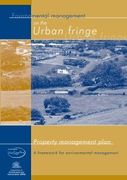 Environmental management on the urban fringe - Department of ...