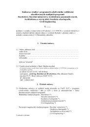 Smlouva o studiu v programech celoživotního vzdělávání ...