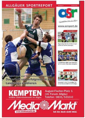 ASR Sport Ausgabe Oktober 2011 - Allgäu Sport Report