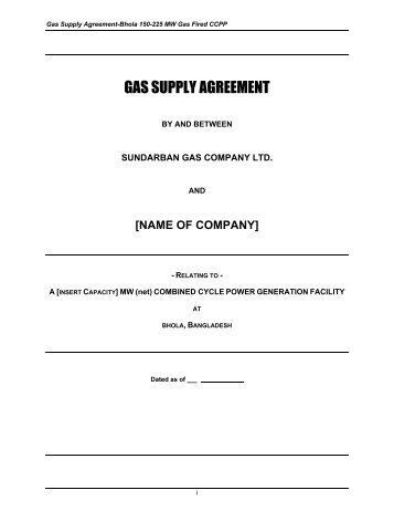 Gas Supply Agreement Bpdb
