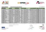 Private Test - 3 RESULTS Ord. Nº Entrant Nat. Driver Nat ... - GT Open