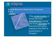 """""""The modernization of social services, strengthening central and ..."""