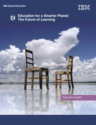 Education for a Smarter Planet: The Future of Learning - IBM