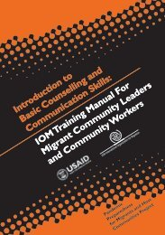 IOM Training Manual for Migrant Community Leaders and ...