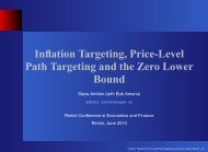 Inflation Targeting, Price-Level Path Targeting and the Zero Lower ...