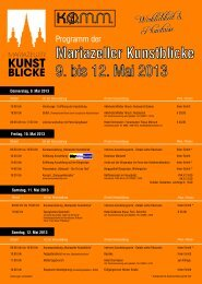 Mariazeller Kunstblicke Programm als PDF