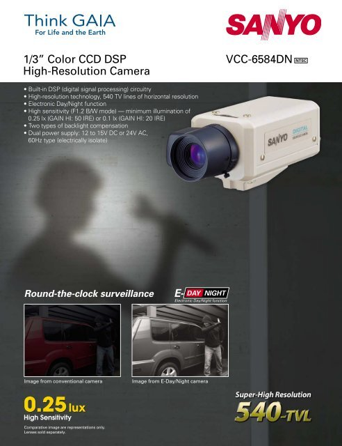 """VCC-6584DN NTSC 1/3"""" Color CCD DSP High-Resolution Camera"""