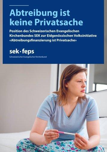 Abtreibung ist keine Privatsache - Schweizerischer Evangelischer ...