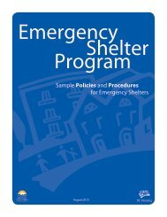 Sample Policies and Procedures for Emergency ... - BC Housing
