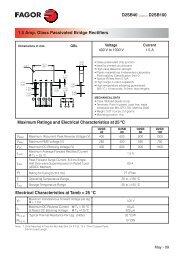 D2SB40 ........ D2SB100 1.5 Amp. Glass Passivated Bridge Rectifiers ...