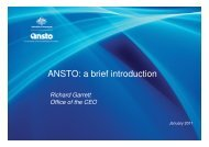 ANSTO: a brief introduction - ainse